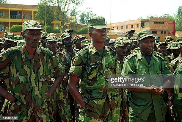 Some of the 1004 Rwandan Patriotic Army soldiers from 75 batallions who returned walking from Kisangani in the Democratic Republic of Congo are seen...