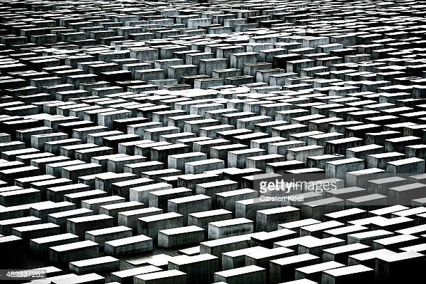 Some of the 2,711 polished marble blocks, or 'stellae' can be seen at the Memorial to the Murdered Jews of Europe, also called the Holocaust Memorial...