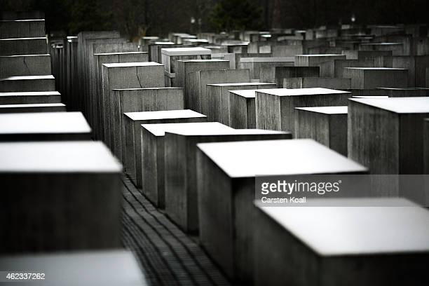 Some of the 2711 polished marble blocks or 'stellae' can be seen at the Memorial to the Murdered Jews of Europe also called the Holocaust Memorial on...