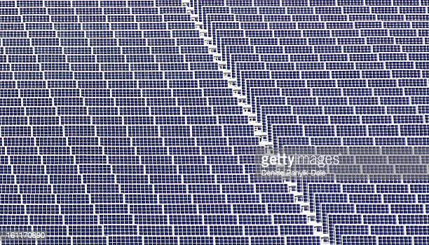 Some of the 3,728 solar panels on the front lawn of Alcatel-Lucent Bell Labs Global Headquarters in Murray Hill , New Jersey. The six-acre solar farm...