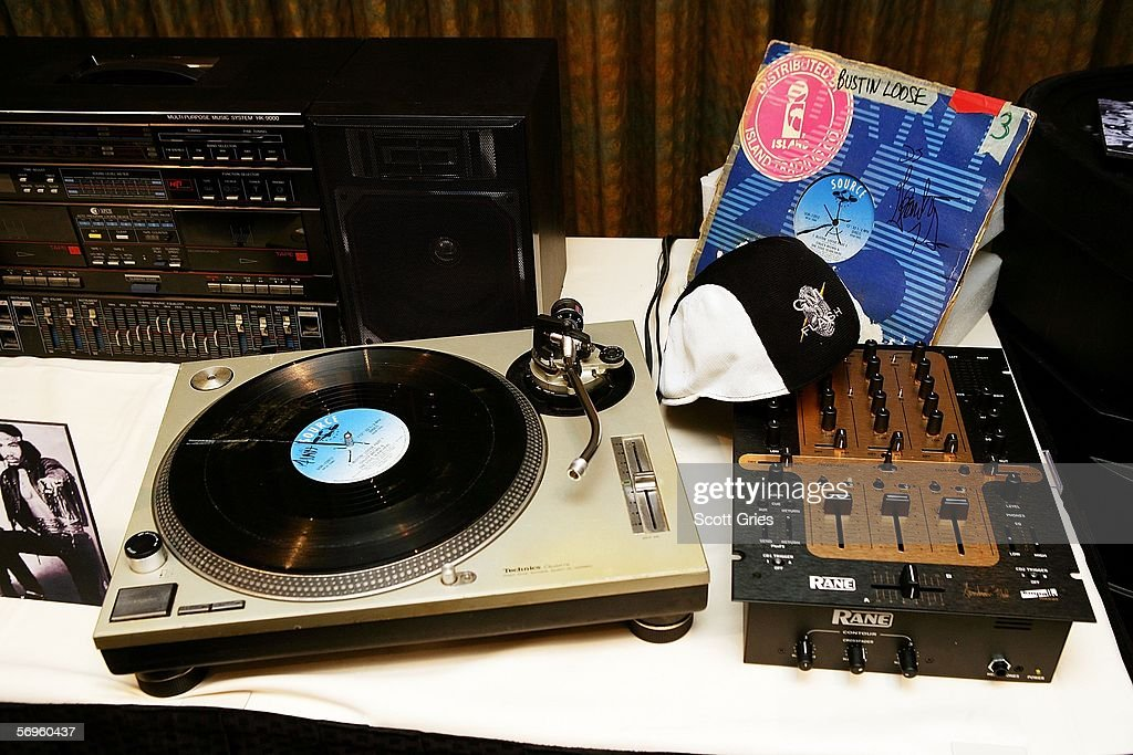 Some of the articles to be put on display at The Smithsonian are seen during a press conference to announce the launch of 'Hip-Hop Won't Stop: The Beat, The Rhymes, The Life' at the Hilton Hotel February 28, 2006 in New York City.