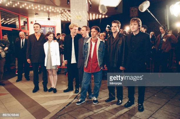 Some of the cast and the director from the film Trainspotting at the premier in Scotland. Pictured left to right, director Danny Boyle, Kelly...