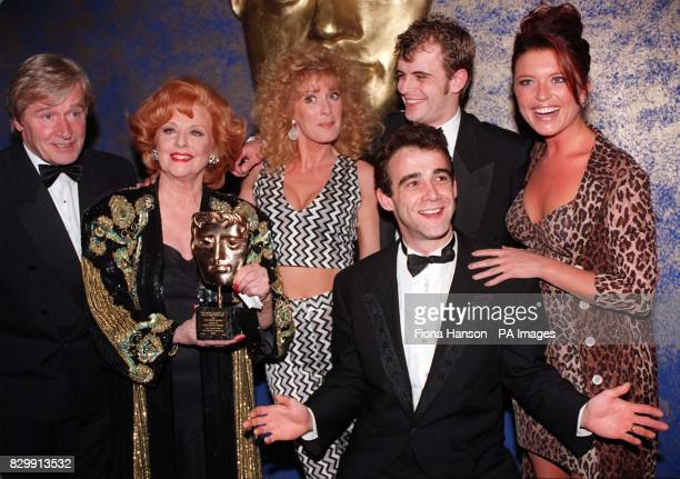 Some of the cast of Granada TV's long running soap 'Coronation Street' celebrate their BAFTA award presented at The Royal Albert Hall in London Bill...