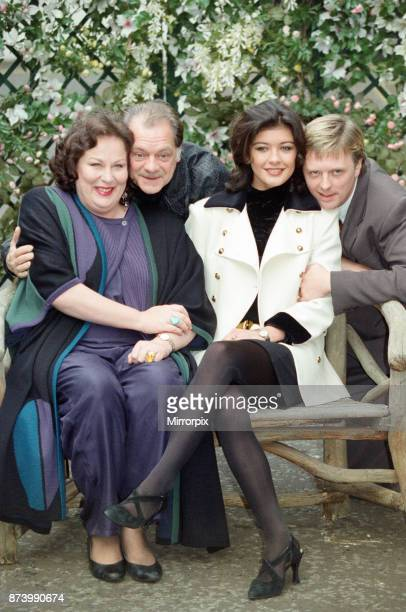Some of the cast of 'The Darling Buds of May' television series pictured at the launch of the second series Pictured left to right Pam Ferris David...