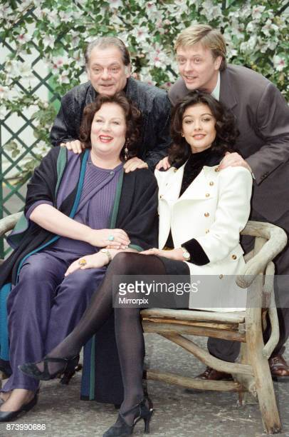 Some of the cast of 'The Darling Buds of May' television series pictured at the launch of the second series Pictured back row left to right David...