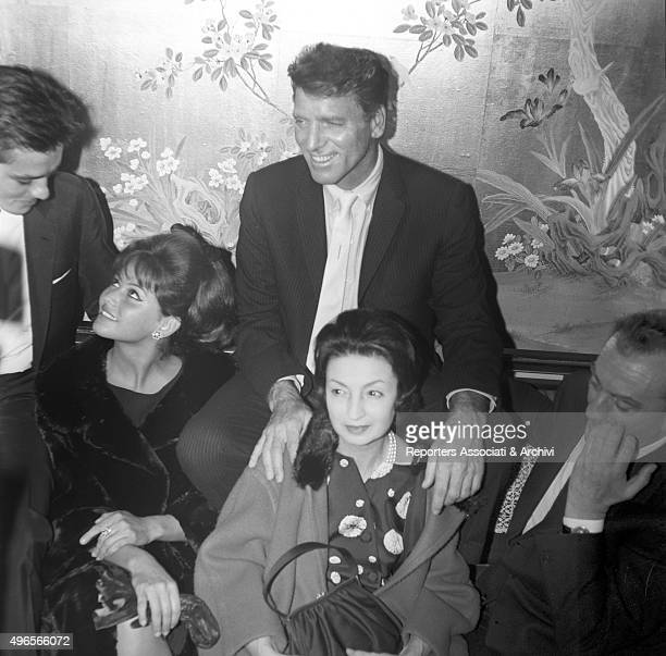 Some of the cast of the film 'The Leopard' including French actor Alain Delon Italian actresses Claudia Cardinale and Rina Morelli American actor...
