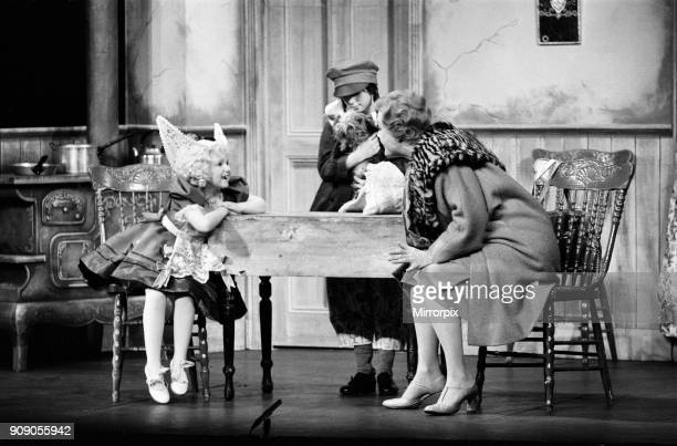 Some of the cast on stage during a special dress rehearsal for 'Gypsy' at the Piccadilly Theatre Bonnie Langford playing Baby June is pictured on the...