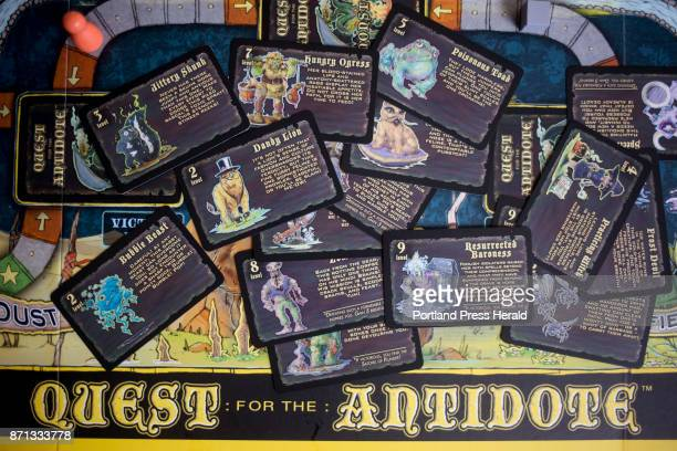 Some of the character cards for Quest for the Antidote There are fifty different characters in the game Deschenes created and designed the game and...