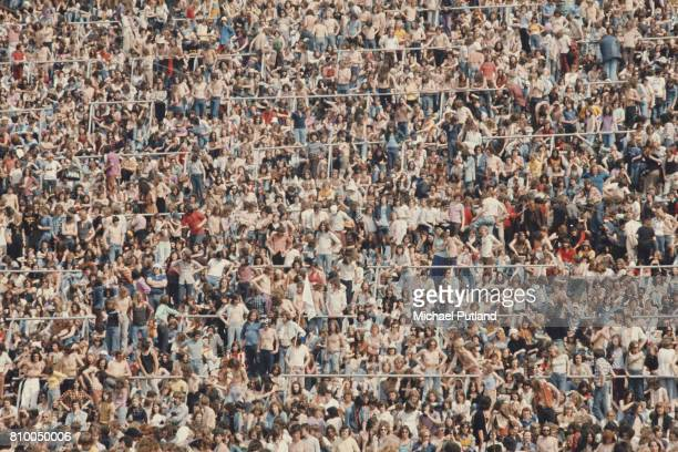 Some of the crowd at The Valley Charlton Athletic's football ground for the Summer of '74 oneday rock festival London 18th May 1974 The Who topped...