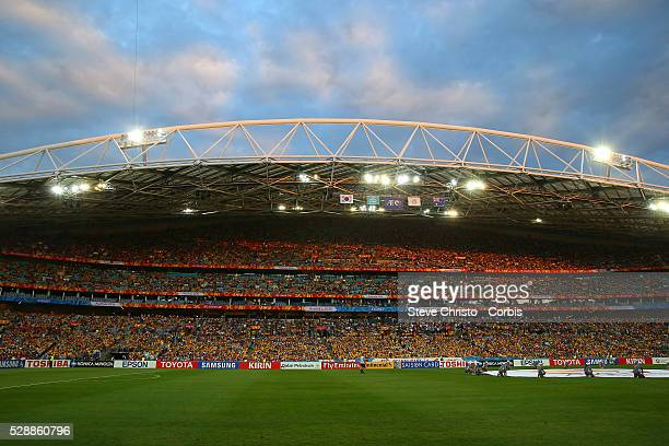 Some of the crowd for the match between Australia and Korea Republic at Stadium Australia Sydney Australia Saturday 31st January 2015
