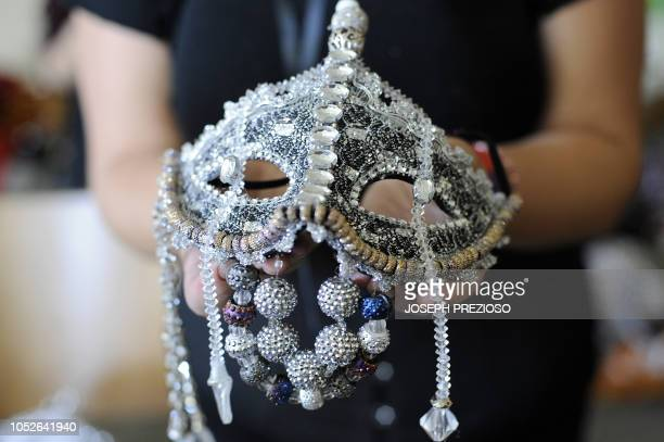 Some of the custom headwear are shown for the 3018 fashion show at the 12th Annual Black New England Conference at the University of New Hampshire on...