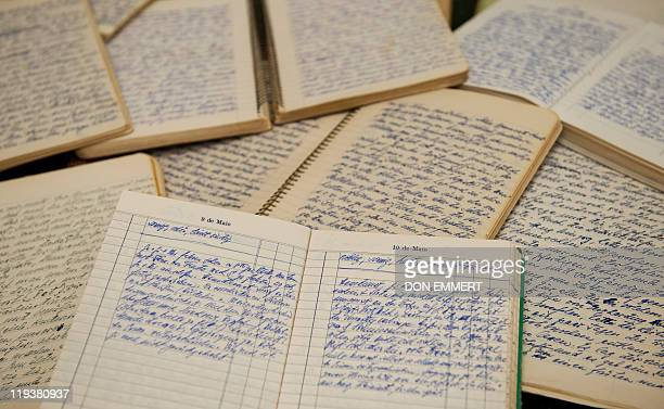 "Some of the diaries of feared Nazi war criminal Josef Mengele, the so-called ""Angel of Death"" who carried out gruesome medical experiments on..."