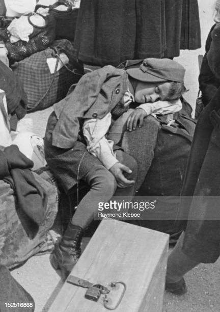 Some of the estimated two and a quarter million Sudeten Germans who are being expelled from Czechoslovakian territory after the collapse of German...