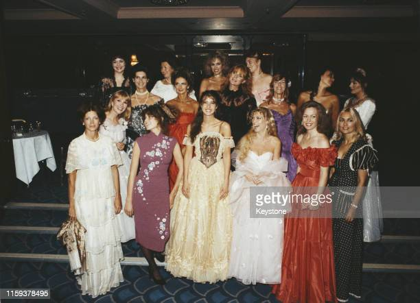 Some of the female guests of English photographer Lord Lichfield at a charity ball to launch his new book 'The Most Beautiful Women', UK, September...