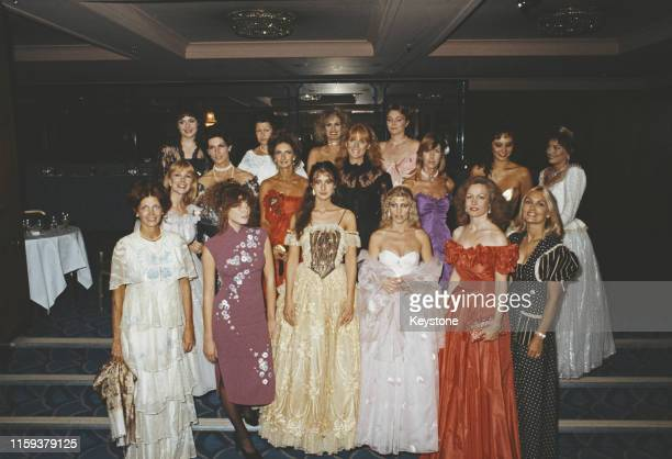 Some of the female guests of English photographer Lord Lichfield at a charity ball to launch his new book 'The Most Beautiful Women' UK September...