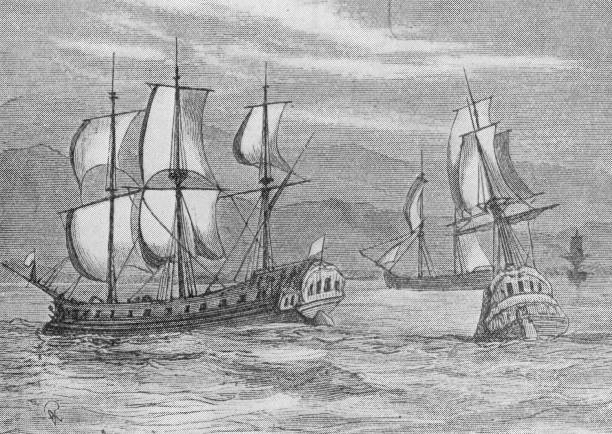 Some of the First Fleet - eleven British Navy ships...