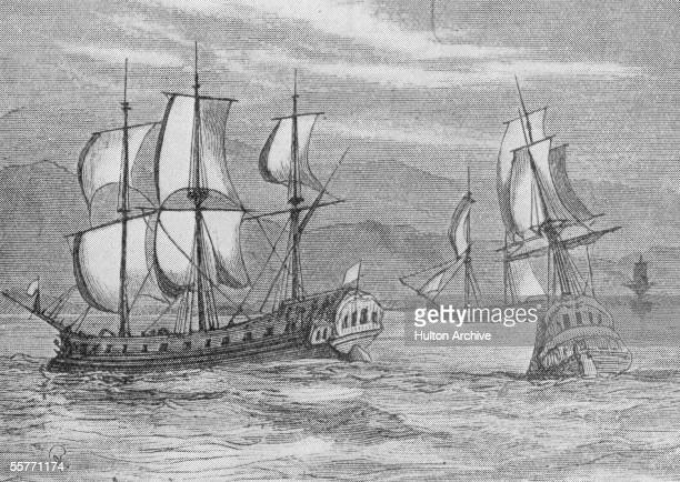 Some of the First Fleet eleven British Navy ships under the command of Captain Arthur Phillip which took 750 British convicts to Botany Bay where...