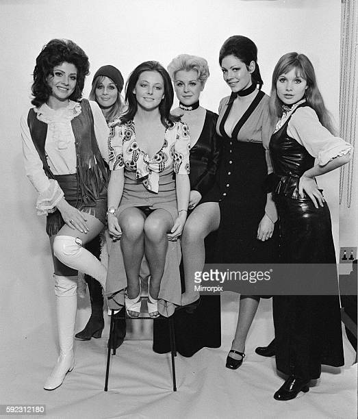 Some of the girls in the series left to right Vikki Woolf Anouska Hemple Liz Bamber Gay Soper Anna Brett and Madeline Smith 21st October 1970