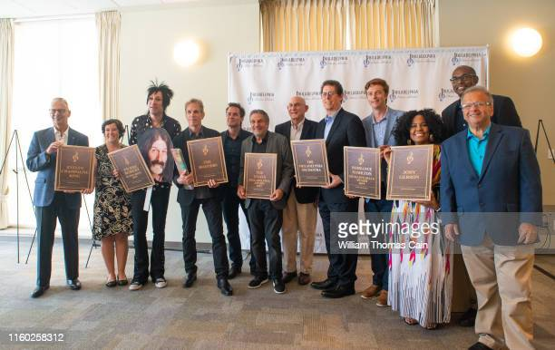 Some of the honorees and board members pose for a photo after the announcement of the 2019 Philadelphia Music Alliance Walk of Fame nominees at...
