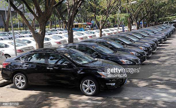 Some of the hundred of new cars that will be used during the Asia Pacific Economic Cooperation summit to be held in the Philippines later this month,...