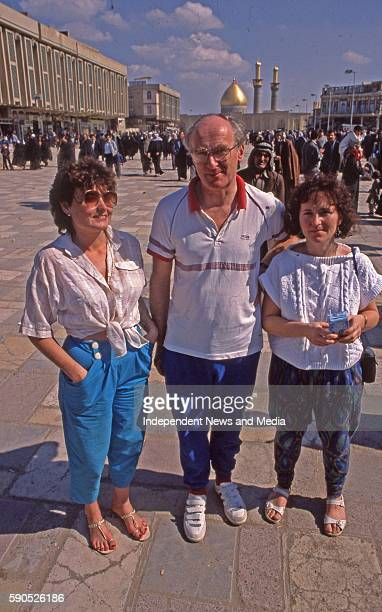 Some of the Irish nursing staff that travelled to work in Ibn Al Bitar hospital in Baghdad Capital of Iraq circa February 1988