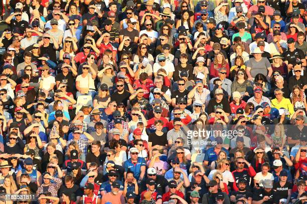 Some of the large crowd during the Mitre 10 Cup Premiership Final between Tasman and Wellington at Trafalgar Park on October 26 2019 in Nelson New...