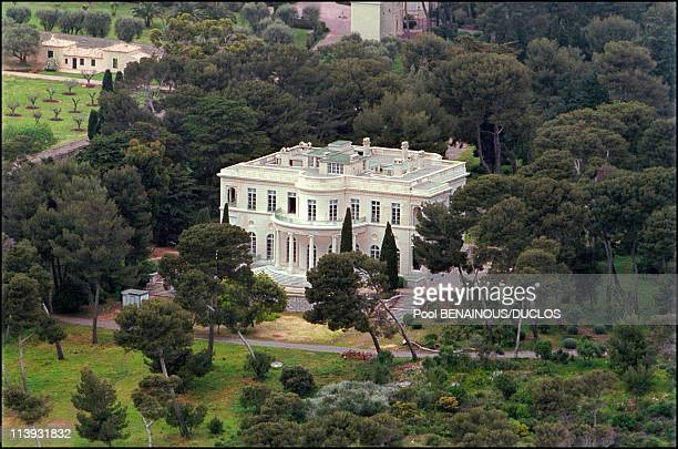 Some of the magnificent mansions movie stars stay at during the Cannes Film Festival on the French Riviera In Cannes France On April 13 2001Chateau...