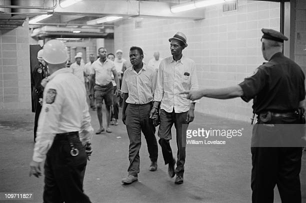 Some of the men arrested during the race riot in Rochester, New York State, late July 1964.