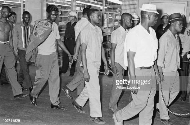 Some of the men arrested during the race riot in Rochester New York State late July 1964