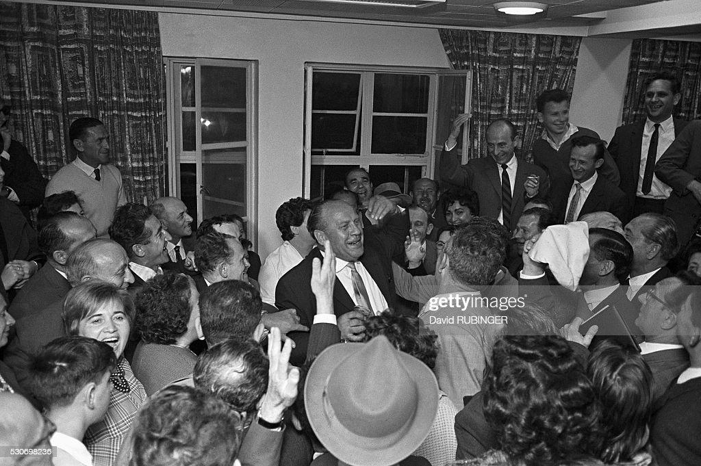 Oskar Schindler Visiting Israel : News Photo
