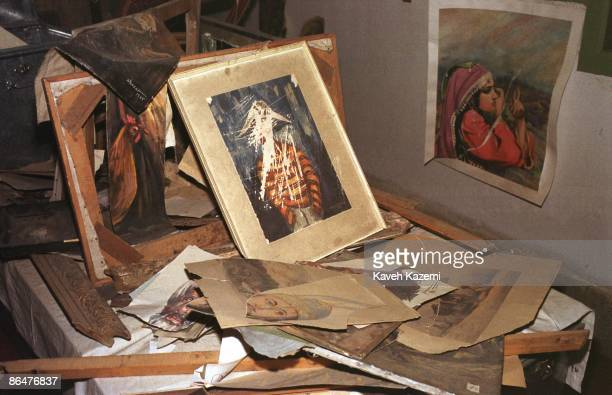 Some of the paintings from the Kabul National Gallery which were shredded by the Taliban are preserved in the city's museum 23th April 2002 Under the...