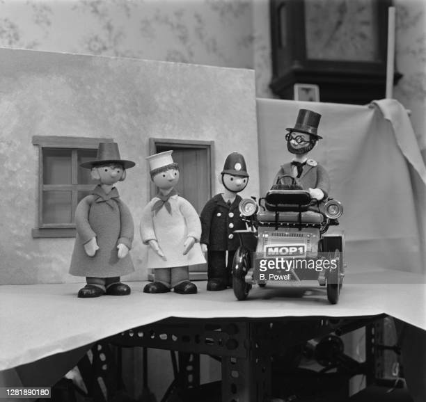 Some of the puppets created by Gordon Murray for the new British children's television series 'Camberwick Green' UK 30th September 1965 From left to...