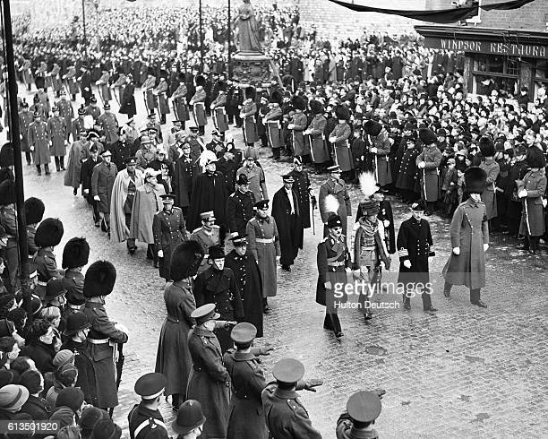 Some of the representatives from foreign countries who took part in the funeral procession of the late King George V through the streets of Windsor