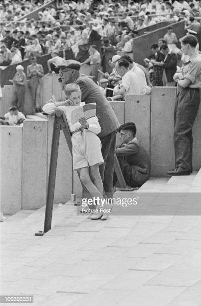 Some of the spectators at Wembley Stadium during the Olympic Games London 29th July14th August 1948 Original Publication Picture Post 4582 Olympic...