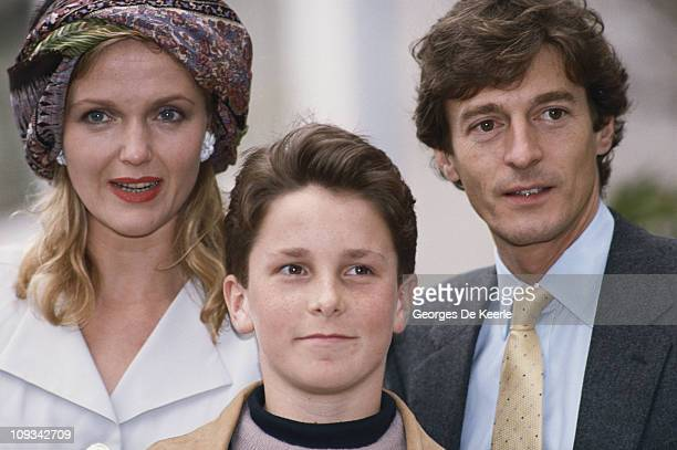 Some of the stars of the Steven Spielberg film 'Empire of the Sun' attend the film's premiere UK 20th March 1988 From left to right Miranda...