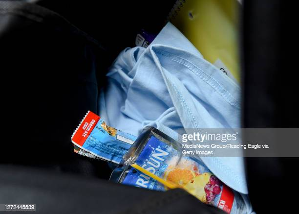 Some of the supplies in one of the backpacks for students participating in the program for students doing virtual school. At the Olivet Boys and...