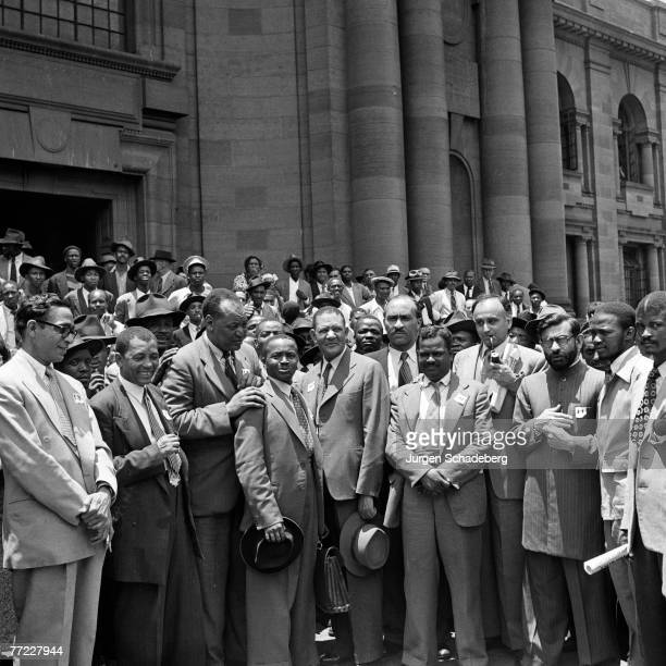 Some of the twenty anti-apartheid campaigners charged with contravening the Supression of Communism Act during the Defiance Campaign of civil...