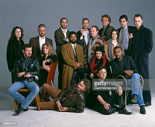 Some of the twenty 'Best of Young British Novelists' listed by the Granta literary magazine and publisher for 1993 Back row left to right Helen...