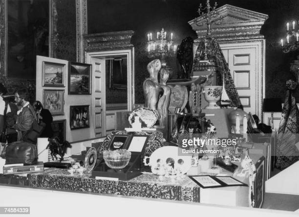 Some of the wedding gifts received by Prince Charles and Princess Diana from foreign and Commonwealth countries on display at St. James' Palace,...
