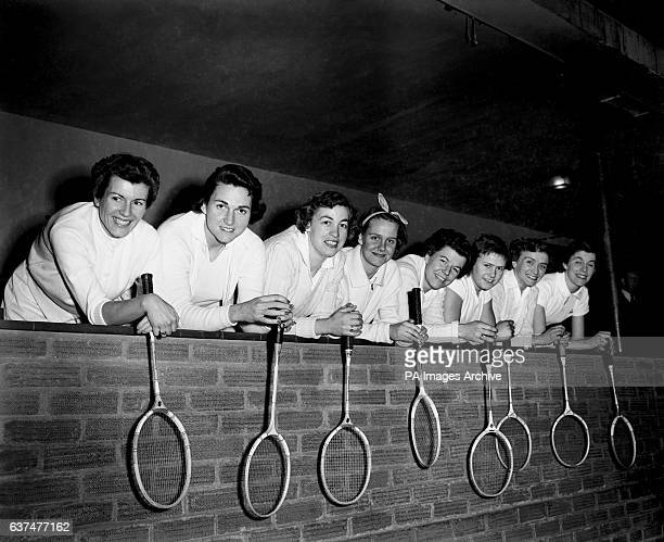 Some of the women competing in the Championships Lois Alston Margaret Varner Marjorie Shedd Jean Waring Joan Warren Heather Ward June Timperely and...