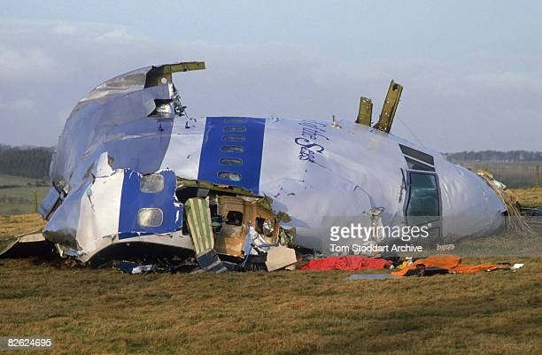 Some of the wreckage of Pan Am Flight 103 after it crashed onto the town of Lockerbie in Scotland 22nd December 1988 On 21st December 1988 the Boeing...