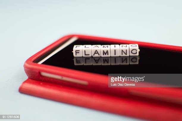 Some people are using their mobile phones to do flaming
