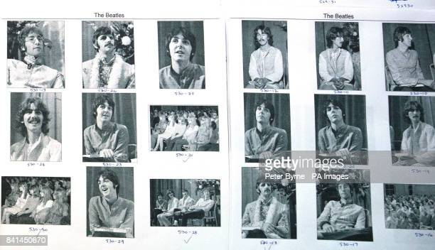 Some previously unseen contact sheets of photographs of the Beatles taken just before the death of manager Brian Epstein which are to go under the...