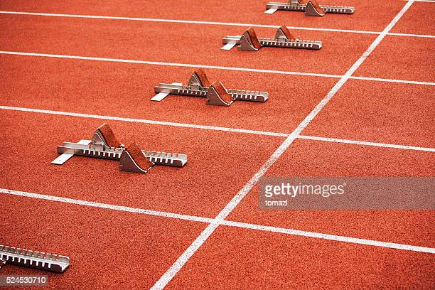 Some starting block on running track