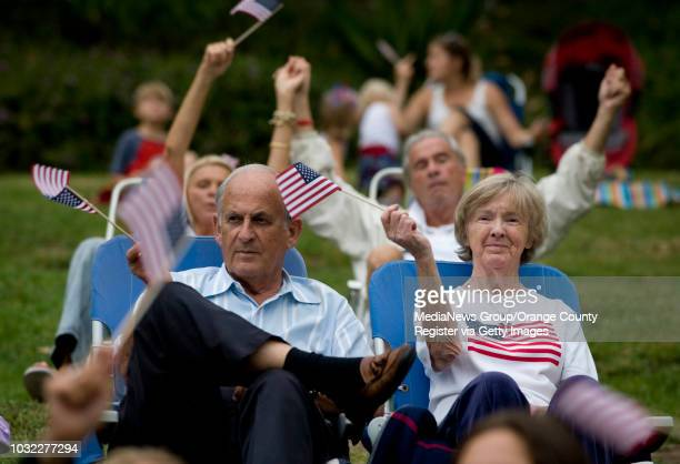 Some the approximately 200 hundred plus people that attended the Laguna Niguel Patriot Day Concert and candlelight vigil at the Crown Valley...