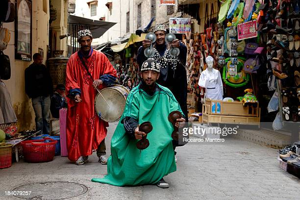 CONTENT] Some very noisy street dancers can be encountered in the medina of Fez they jump and sing for a few coin transforming the alleys in a really...