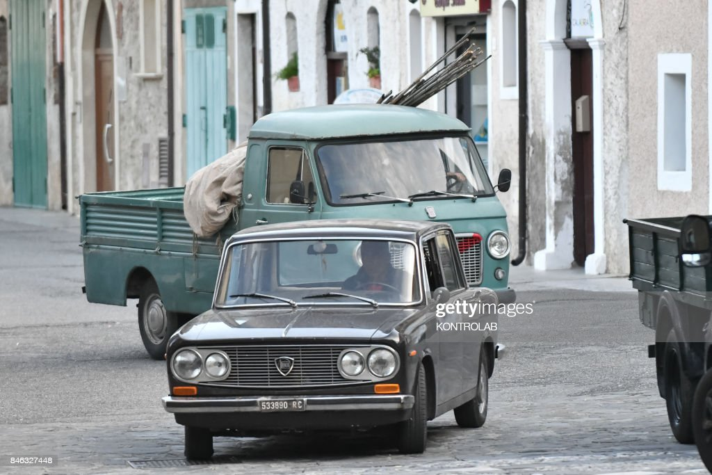 Some vintage cars used for filming in Civita, Calabria, on ...