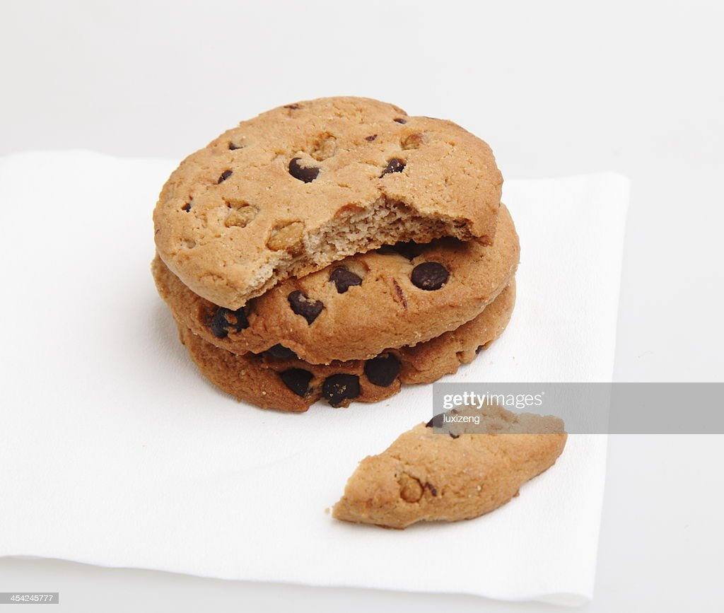 Some wheat biscuits with chocolate : Stock Photo