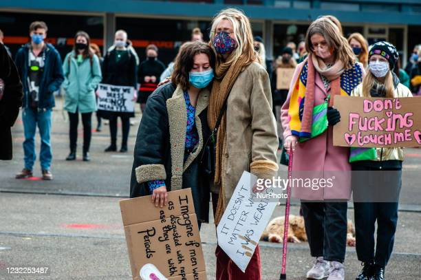 Some women are crying while listening the sexual assault experience of another woman, during the demonstration Reclaim these streets in the city of...