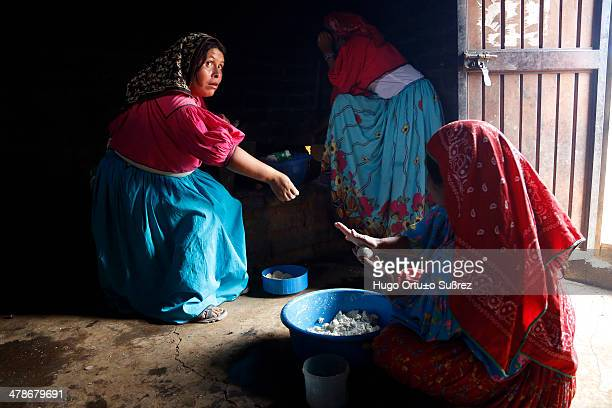 CONTENT] MEZQUITIC JALISCO MEXICO JUNE 11 Some women prepare corn tortillas on a clay comal in Mezquitic township in the western state of Jalisco...